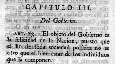 CONSTITUCIÓN 1812-ARTÍCULO 13